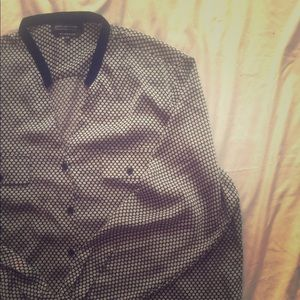 Jones New York 20W Satiny Polka Dot Shirt